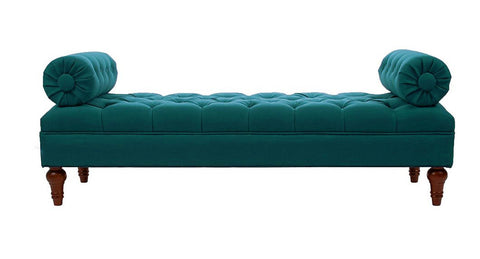 Elsa Tufted Bench - Teal - Vilaasita  - 1