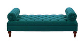 Elsa Tufted Bench - Teal - Vilaasita  - 2