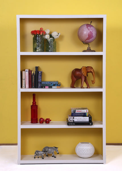 Lola White & Yellow Bookcase - Vilaasita  - 1