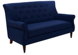 Jada Tufted Sofa - Blue - Vilaasita  - 2