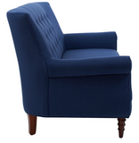 Jada Tufted Sofa - Blue - Vilaasita  - 4