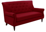 Jada Tufted Sofa - Red - Vilaasita  - 2