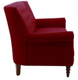 Jada Tufted Sofa - Red - Vilaasita  - 3