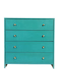 Vintage Teal Blue Chest - Vilaasita  - 2