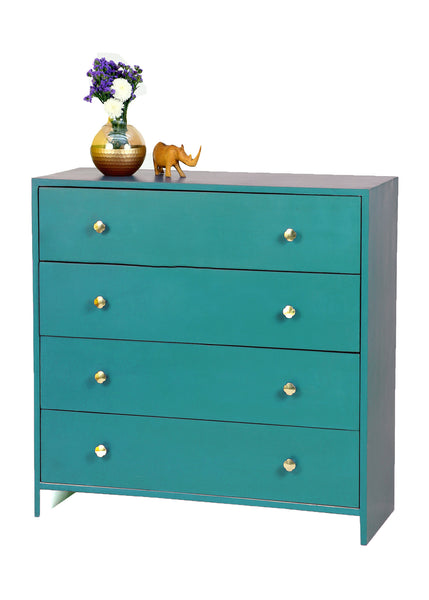 Vintage Teal Blue Chest - Vilaasita  - 1