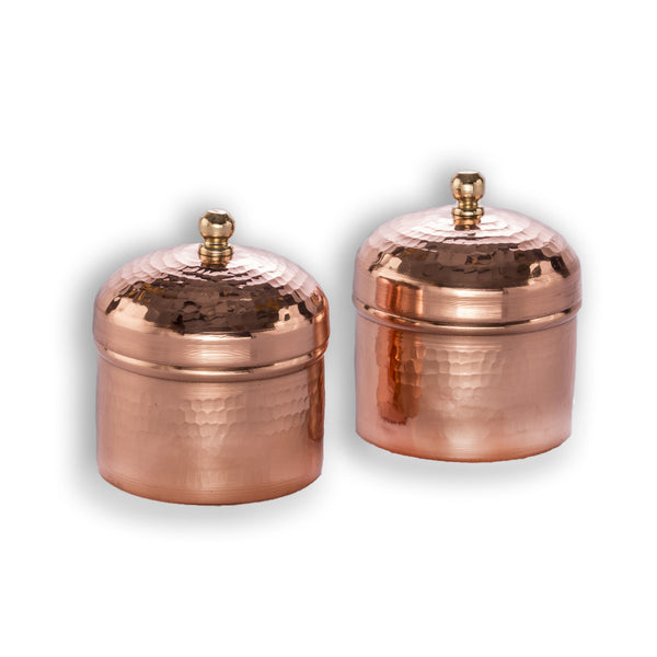 Tamara Trinket Box - Copper  (Set of two) - Vilaasita  - 1