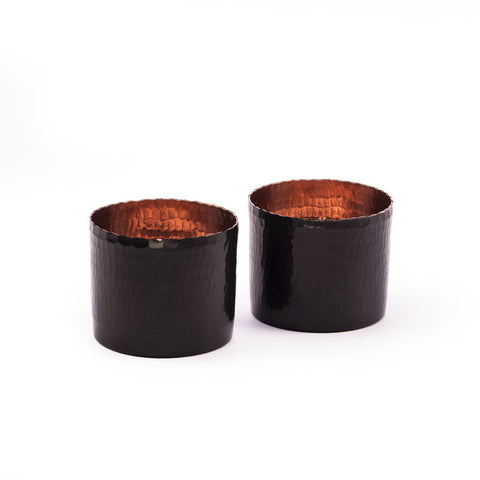 Noor T-light holder - Oxidised Copper (Set of two) - Vilaasita  - 1