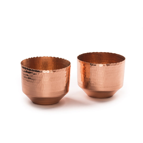 Niana T-light holder - Copper (Set of two) - Vilaasita  - 1