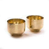 Niana T-light holder - Brass (Set of two) - Vilaasita  - 1