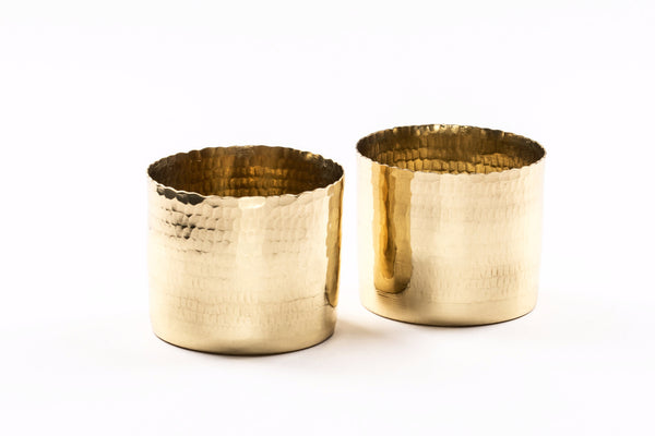 Noor T-light holder - Brass (Set of two) - Vilaasita  - 3
