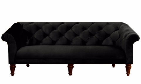 Empire Tufted Sofa - Black - Vilaasita  - 1