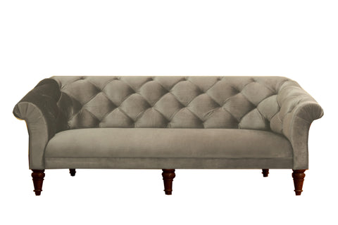 Empire Tufted Sofa - Pebble Grey - Vilaasita  - 1