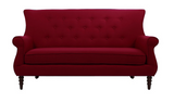 Jada Tufted Sofa - Red - Vilaasita  - 1