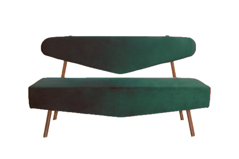 Parisian Triangular Sofa - Emerald - Vilaasita  - 1