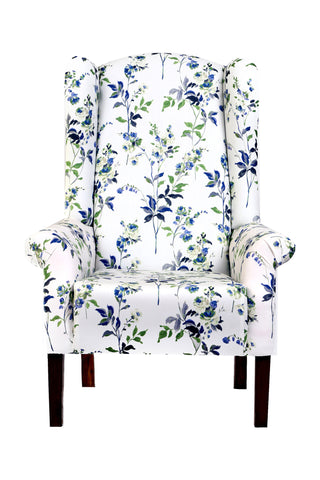 Cora Wingback Chair: Floral - Vilaasita  - 1