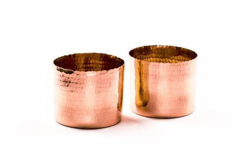 Noor T-light holder - Copper (Set of two) - Vilaasita  - 1