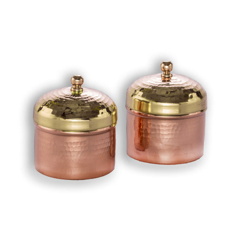 Tamara Trinket Box - Brass & Copper   (Set of two) - Vilaasita  - 1