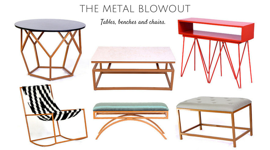 Metal Tables, Benches and Chairs