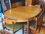 Mid Century GPlan Extending Dining Table & 6 Chairs Teak - erfmann-vintage