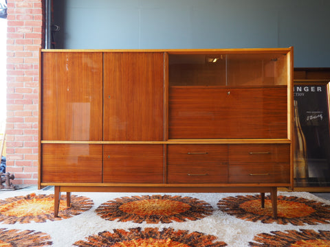 Mid Century HEAL'S Walnut Sideboard Cabinet ON SALE - erfmann-vintage