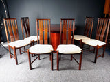 Mid Century Set of Six Rosewood Dining Chairs By Boltinge Stolefabrik