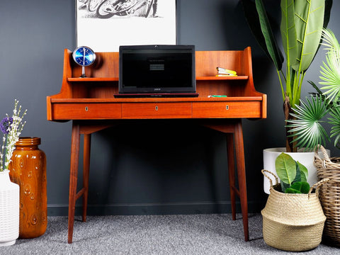Mid Century Norwegian Ola Desk by John Texmon for Blindheim Mobelfabrikk, 1950s