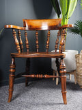 Antique 19th Century Elm & Ash Captains or Desk Chair