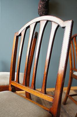 Antique Georgian Style Mahogany Dining Chairs x 4. - erfmann-vintage