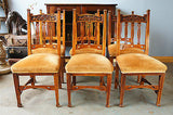 Arts & Crafts 6 Oak Dining Chairs. - erfmann-vintage