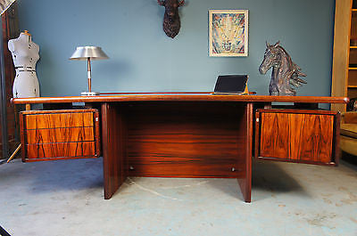 Danish Rosewood INTER-X Very Heavy Large Desk Office. - erfmann-vintage
