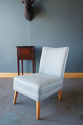 Vintage Nursing Occasional Chair Bedroom Re-Upholstered Blue. - erfmann-vintage