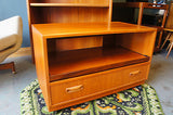 Mid Century Solid Teak Entertainment Unit. - erfmann-vintage