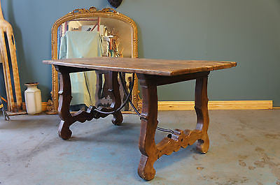Rustic Spanish Country Style Oak Elm Ironwork 18th Century - erfmann-vintage