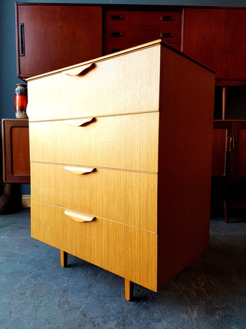 Mid Century Chest of Drawers Teak Great Storage for Filing or Clothes - erfmann-vintage