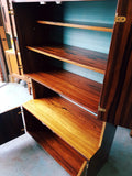 Danish Mid Century Pale Rosewood Sideboard Bookcase Wall Unit - erfmann-vintage