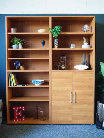 Mid Century Danish Style Bookcase Shelving Unit Display