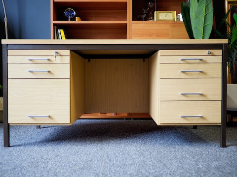 Contemporary Danish Office Desk Filing Storage