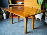 Mid Century Solid Teak Fold Out Dining Table Desk