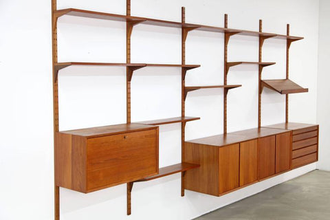 Danish Teak Wall Unit Designed by Poul Cadovius for Royal System 1960s - erfmann-vintage
