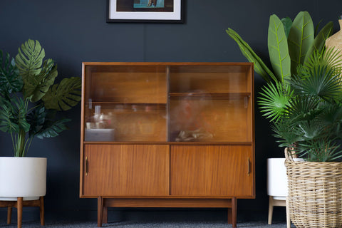 Mid Century Beaver & Tapley Robert Heritage Multi-Width Glass Fronted Display Cabinet