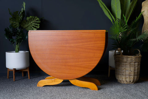 Mid Century Teak Drop Leaf Dining Table Stunning Condition