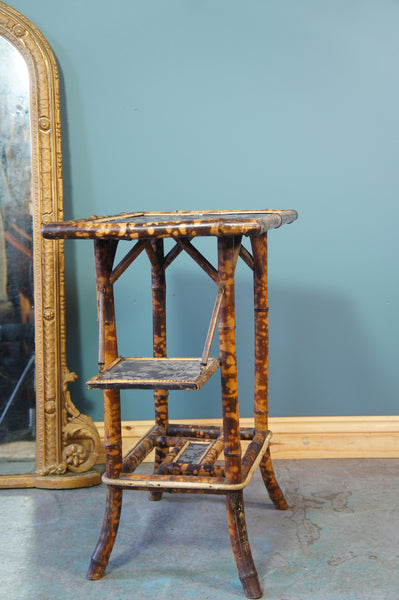 Victorian Oriental Chinese Japanese Bamboo Side Table