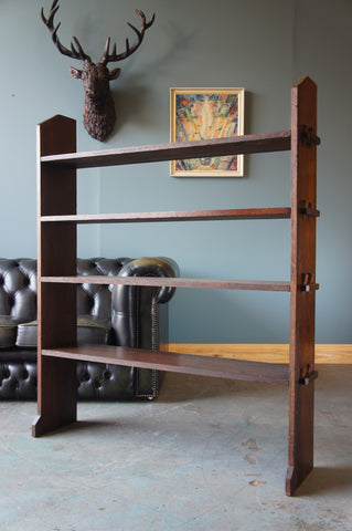 Rustic Country Victorian Large Solid Oak Shelves / Plate Rack Polished up & well fixed - erfmann-vintage