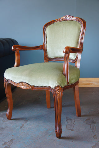 Traditional Mahogany French Louise Style Occasional Armchair - erfmann-vintage