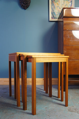 Mid-Century Danish Style Nest of Tables in Teak by McIntosh & Co Ltd - erfmann-vintage