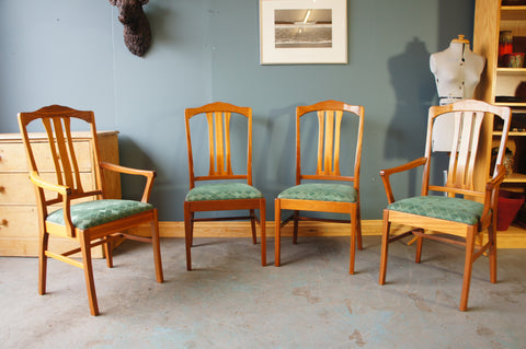 Four Contemporary Parker Knoll Dining Chairs including two Carvers, made from Teak - erfmann-vintage