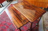 Vintage Retro Mid century Danish Style Nest of 2 Tables in rosewood - erfmann-vintage