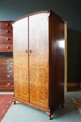 Early 20th Century Late Art Deco VESPER Wardrobe in Walnut - erfmann-vintage