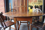 Traditional Victorian Country Style Solid Oak Gate Leg Table - erfmann-vintage