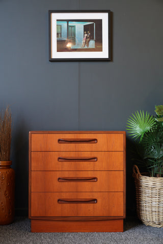 Mid Century Vintage G Plan Fresco Teak Chest of Drawers